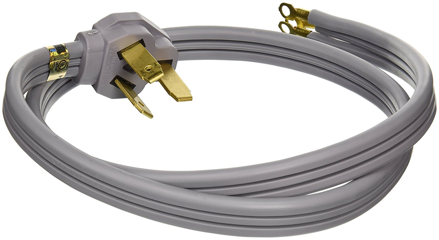 General Electric WX09X10006 3 Wire 40amp Range Cord, 4-Feet - Save ...
