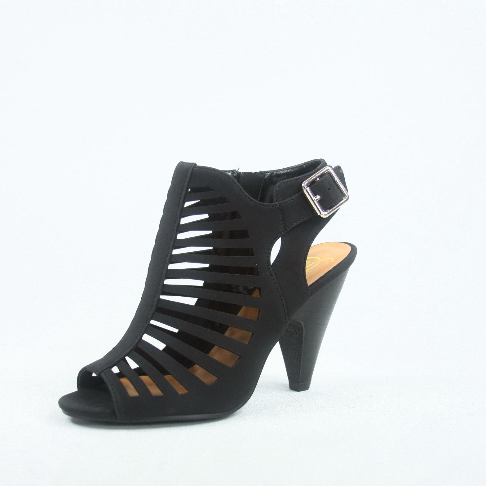 d3aac87b914 Fashion Strappy Caged Kitten Chunky Heel Women s Sandal Shoes - Save ...