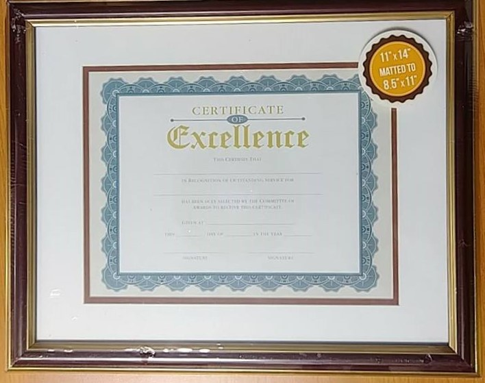 Victory Light Frame, Certificate of Excellence 11\